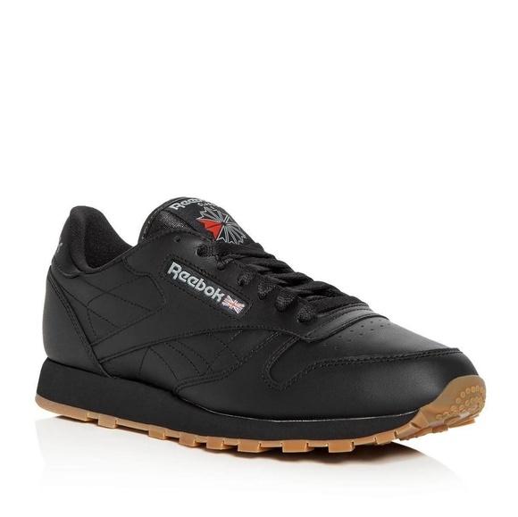 reebok mens black shoes